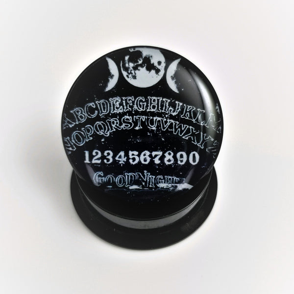 Ouija Board Acrylic Plugs in Black - seo-img