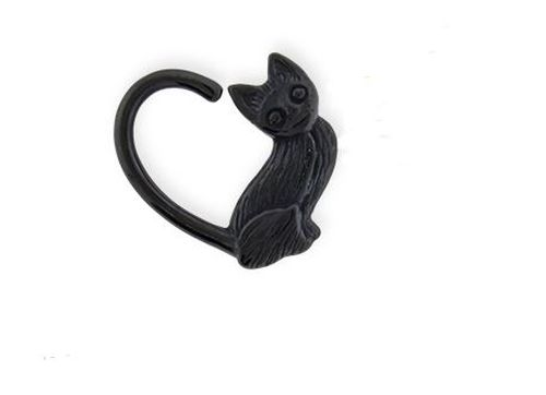 16G Black Cat Heart Seamless Ring - seo-img