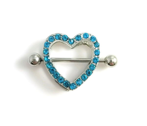 Heart Nipple Shields - Blue Gem - seo-img