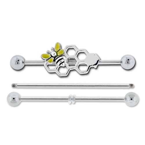 Bumble Bee Industrial Barbell with EXTRAS - seo-img