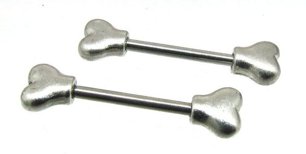 14G Dog bone ends nipple bar - seo-img