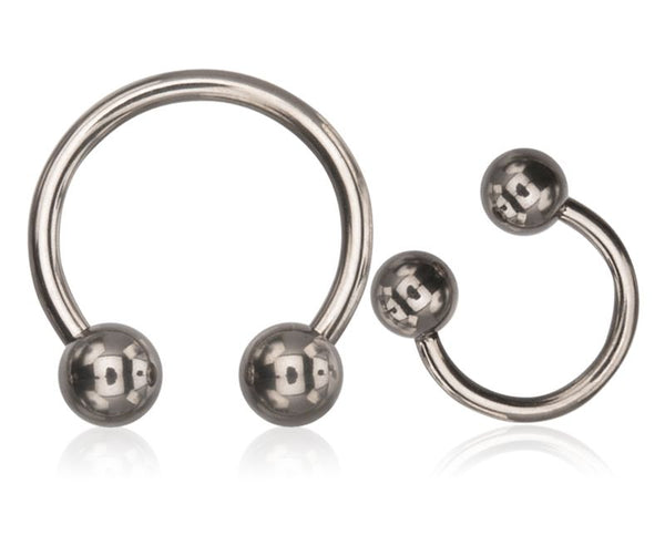 14G Stainless Steel Horseshoes with 5mm balls - seo-img