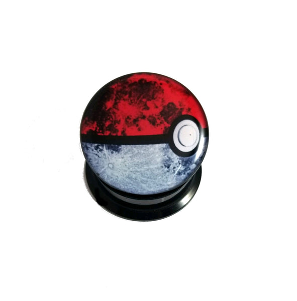 Pokemon Ball Screw Fit Acrylic Plugs - Sold as a pair - seo-img