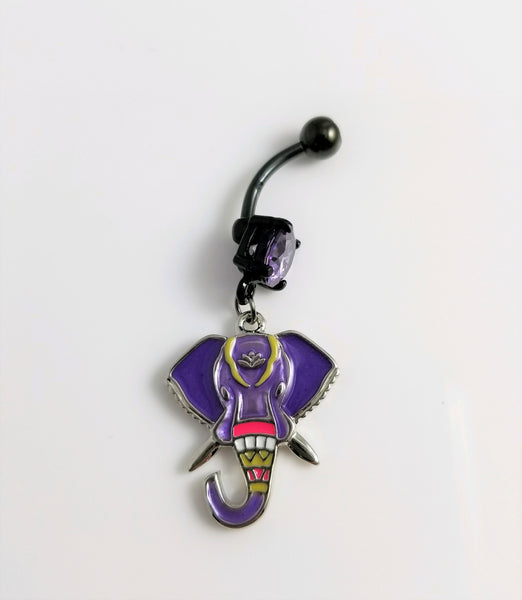 Elephant Belly Ring - Purple - seo-img