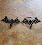 Pair bat light ear weights, hoop earrings