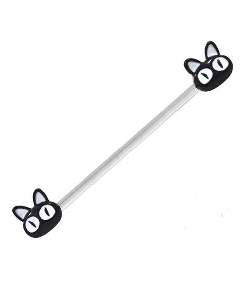 Black Cat End Industrial Barbell - seo-img