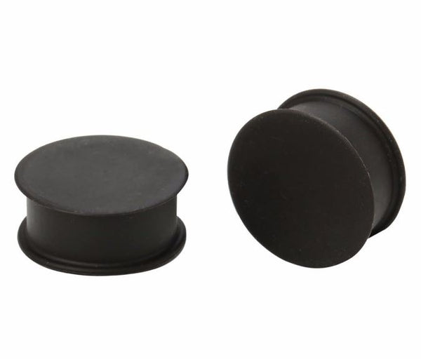 Large Gauge Black Silicone Plugs - seo-img