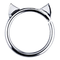 16G Cat Ears Annealed Cartilage Ring - seo-img