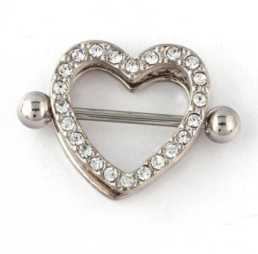 Heart Nipple Shields - Clear Gem - seo-img