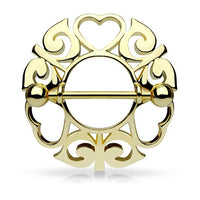 Tribal Heart Nipple Shield - Gold - seo-img