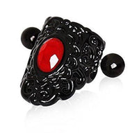 16G Black and Red Lace Cartilage Cuff - seo-img
