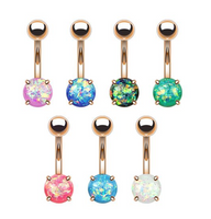 Opal Glitter Belly Ring in Rose Gold - seo-img