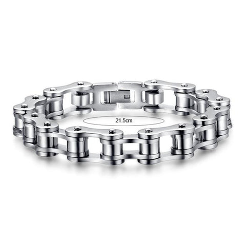 Stainless Bike Chain Bracelet - 8.5inch