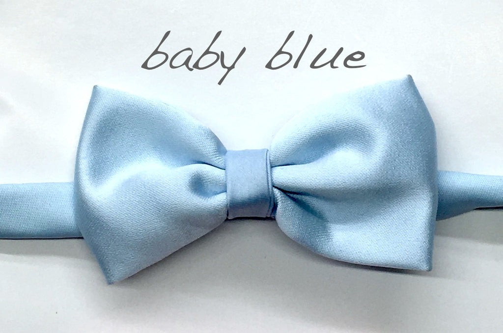 Baby blue Satin bow tie