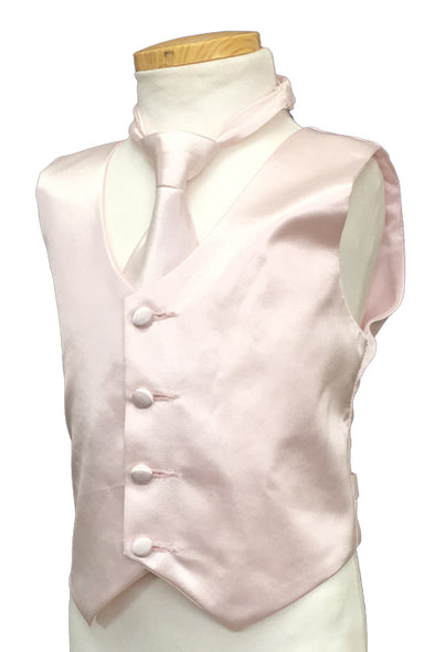 Blush Pink Color Vest and tie