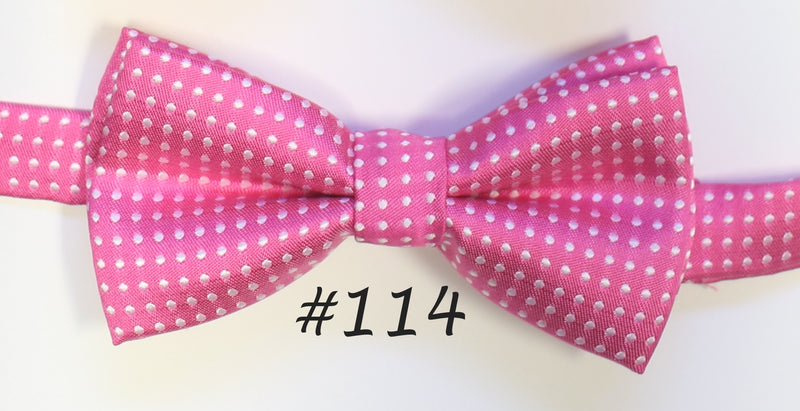 Hot pink polka Bow tie