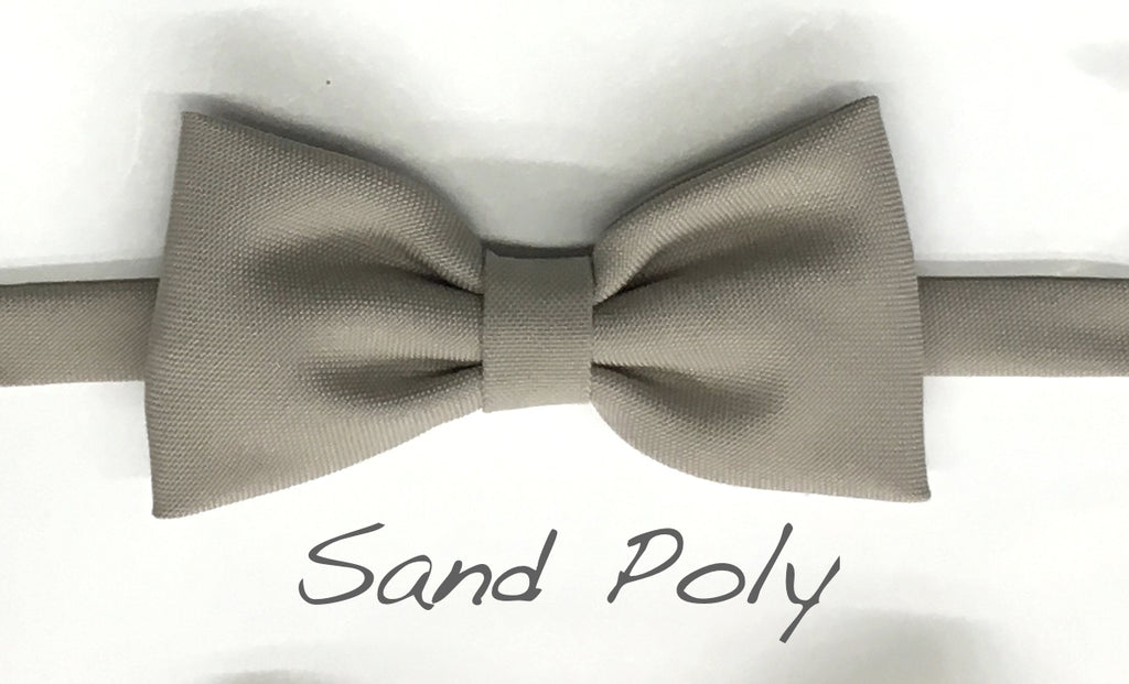 Sand Polyester bow tie