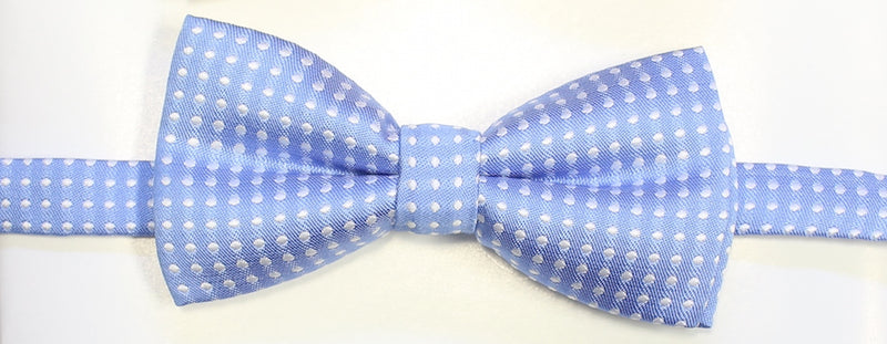 Light blue polka dot Bow tie