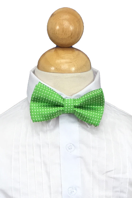 Kelly Green Polkadot Bow Tie