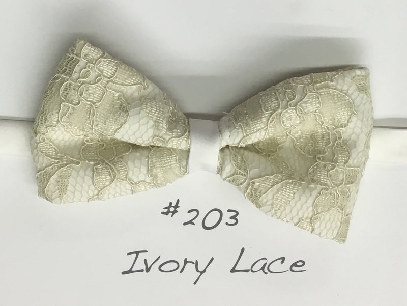 Ivory Lace bow tie