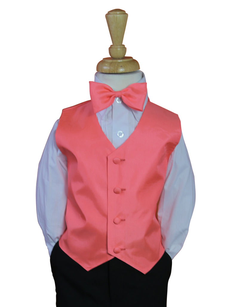 Coral Vest and tie