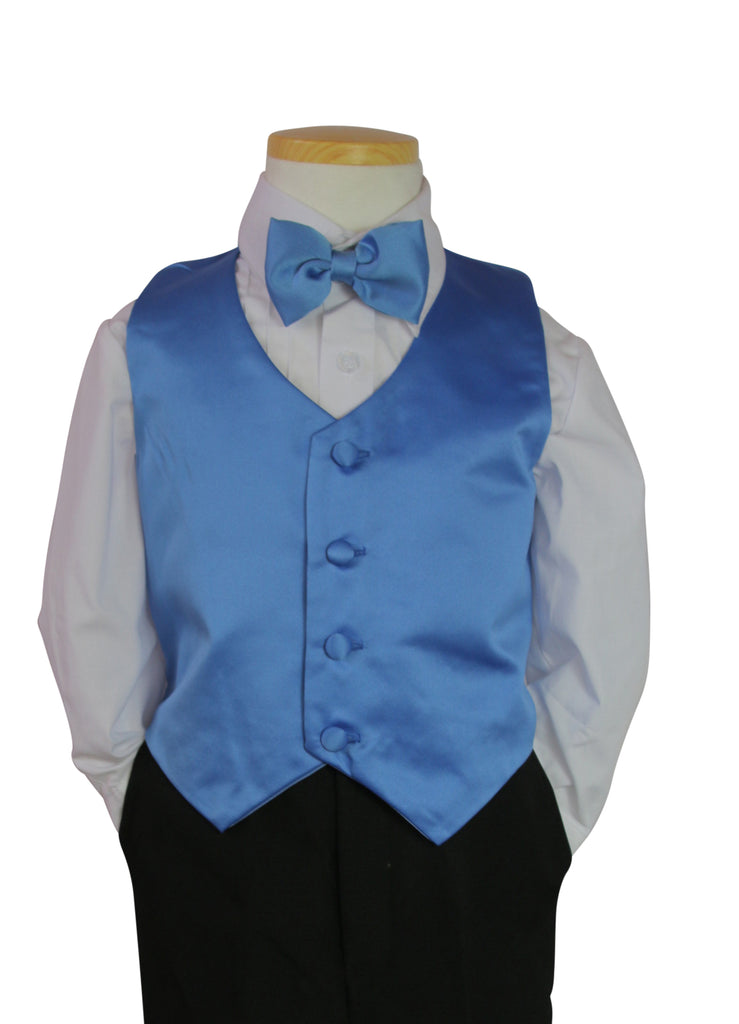 Cornflower Vest and tie