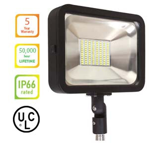 LA107-BZ CSFL-50A-BZ LED Flood Light 50W Knuckle series – 3000K/5000K UL & DLC