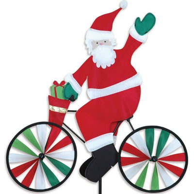 Santa Bicycle Wind Spinner 20 inch