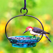 Cuban Bird Feeder/Birdbath Aqua