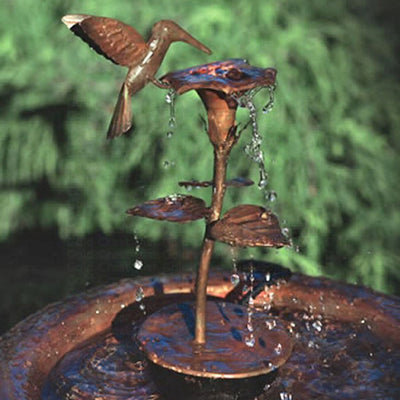 Hummingbird Copper Fountain/Dripper