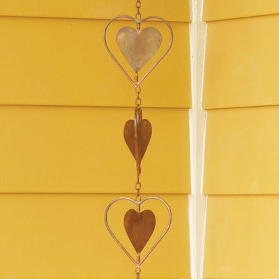 Hearts Flamed Rain Chain 96 inch