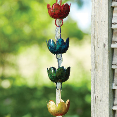 Lily Cups Multicolor Rain Chain 96 inch