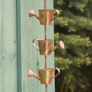 Watering Cans Flamed Rain Chain 96 inch