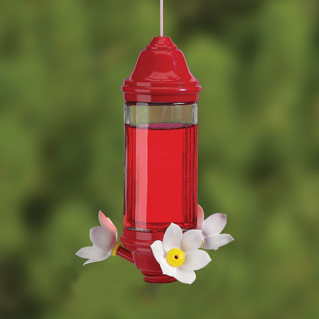 Crystal Lantern Hummingbird Feeder 8 oz Glass - Momma's Home Store