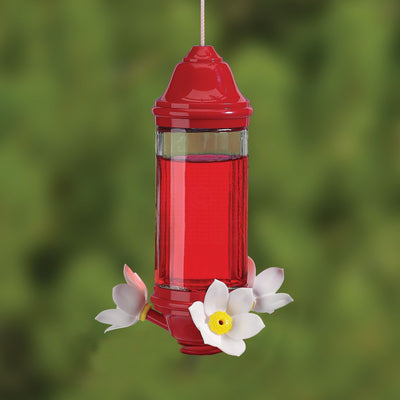 Crystal Glass Lantern Hummingbird Feeder - Momma's Home Store