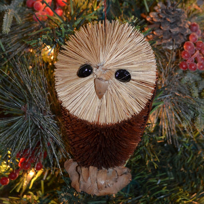 Barn Owl Bristle Brush Ornament