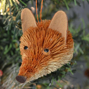 Fox Bauble Bristle Brush Ornament