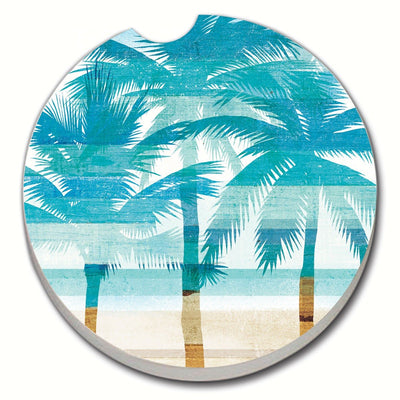 Beachscape Palms Car Coaster - Momma's Home Store
