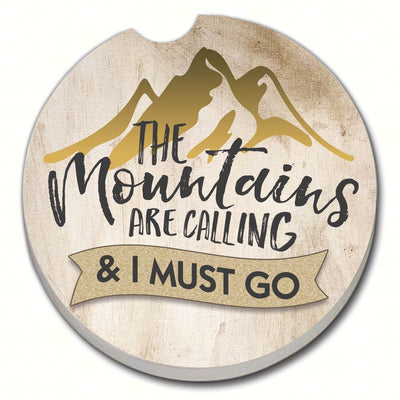 The Mountains are Calling Car Coaster - Momma's Home Store