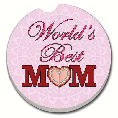 World's Best Mom Pink Car Coaster - Momma's Home Store