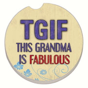 Grandma Fabulous Car Coaster - Momma's Home Store