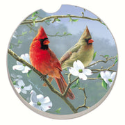 Beautiful Songbirds Cardinals Car Coaster - Momma's Home Store