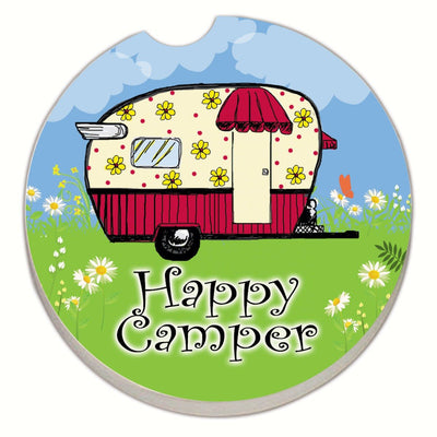 Happy Camper Car Coaster - Momma's Home Store