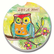 Life's a Hoot Car Coaster - Momma's Home Store