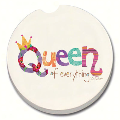 Queen of Everything Car Coaster - Momma's Home Store