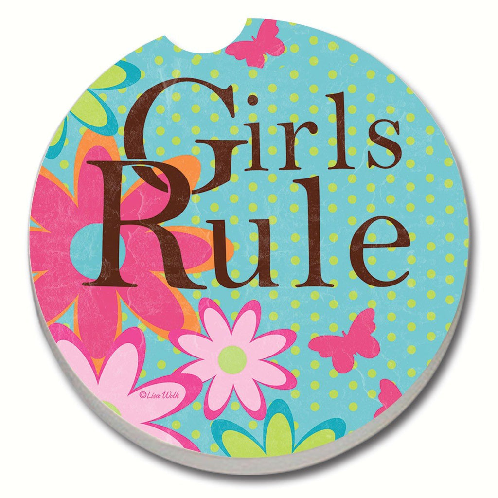 Girls Rule Car Coaster - Momma's Home Store