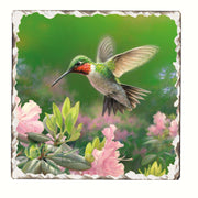 Hummingbird Number 1 Single Tumbled Tile Coaster - Momma's Home Store