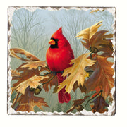 Cardinals Number 2 Single Tumbled Tile Coaster - Momma's Home Store