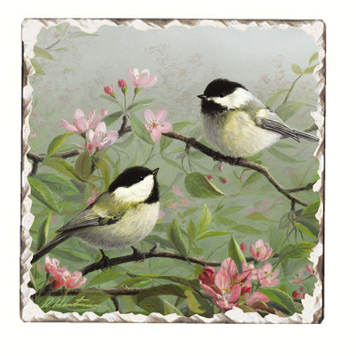 Chickadee Number 1 Single Tumbled Tile Coaster - Momma's Home Store
