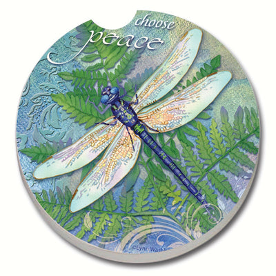 Dragonfly Inspiration Car Coaster - Momma's Home Store